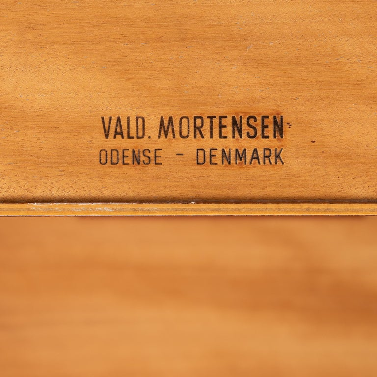 Mid-Century Modern Danish Teak Freestanding Desk by Valdermar Mortensen, 1960s For Sale 5