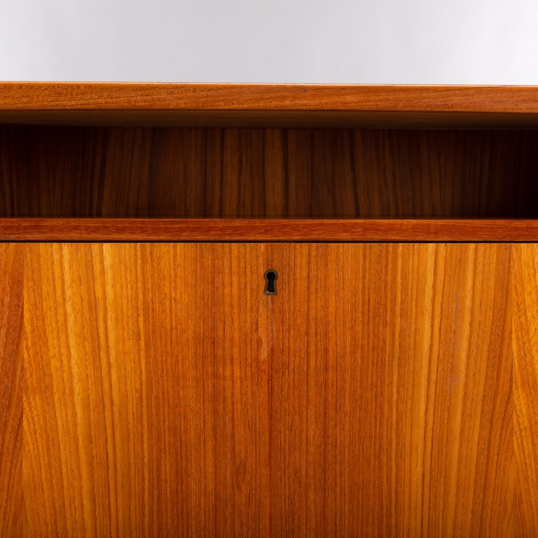 Mid-Century Modern Danish Teak Freestanding Desk by Valdermar Mortensen, 1960s For Sale 9