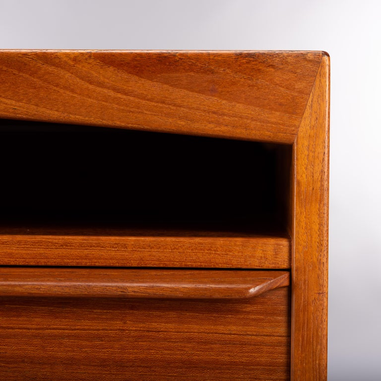 Mid-Century Modern Danish Teak Freestanding Desk by Valdermar Mortensen, 1960s For Sale 11