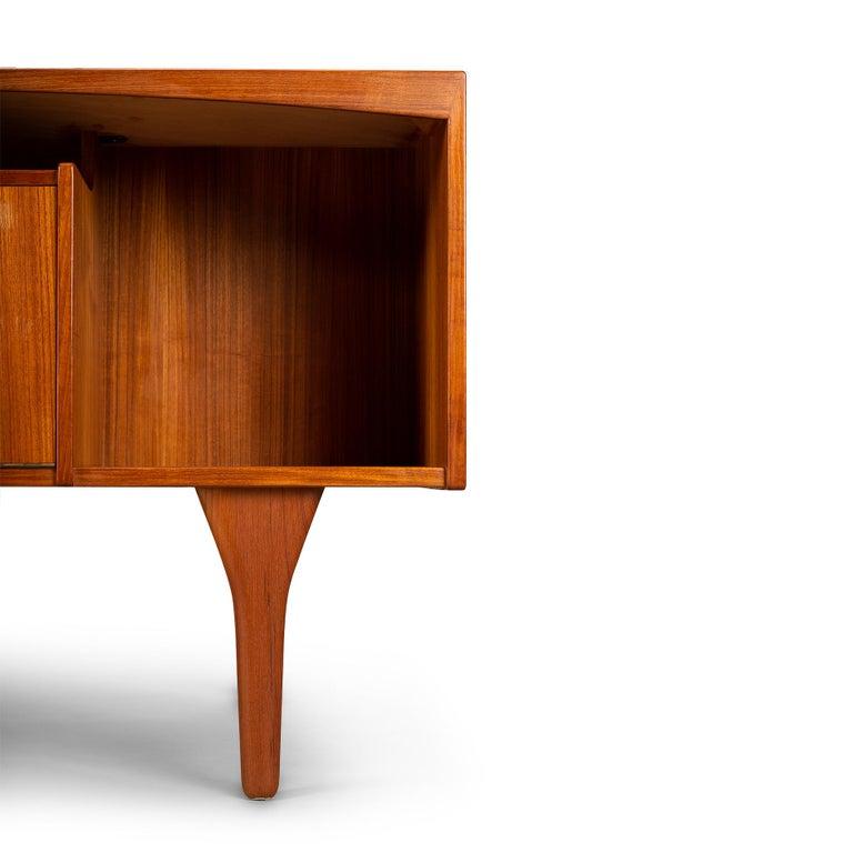 Mid-Century Modern Danish Teak Freestanding Desk by Valdermar Mortensen, 1960s For Sale 1