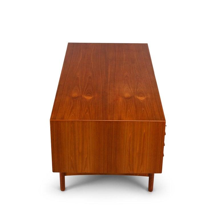 Mid-Century Modern Danish Teak Freestanding Desk by Valdermar Mortensen, 1960s For Sale 2