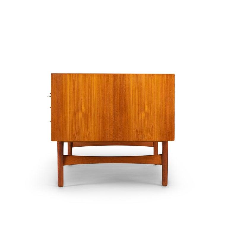 Mid-Century Modern Danish Teak Freestanding Desk by Valdermar Mortensen, 1960s For Sale 3