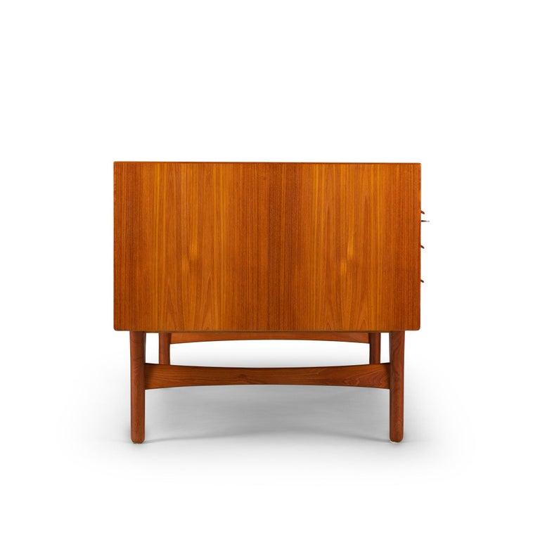Mid-Century Modern Danish Teak Freestanding Desk by Valdermar Mortensen, 1960s For Sale 4