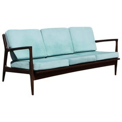 Mid-Century Modern Danish Teak Settee or Sofa for Selig by Ib Kofod-Larsen COM