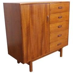 Mid-Century Modern Danish Teak Tall Gentlman's Chest/Dresser