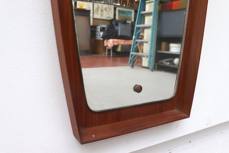 Mid-20th Century Mid-Century Modern Danish Teak Wall Mirror For Sale