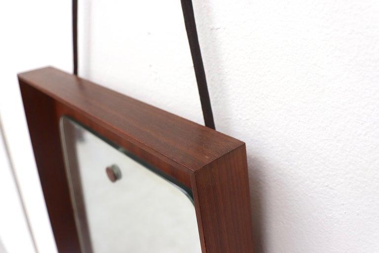 Mid-Century Modern Danish Teak Wall Mirror For Sale 1