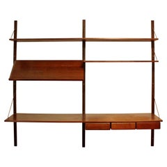 Mid-Century Modern Danish Wall Mounted Floating Shelving Unit Poul Cadovious