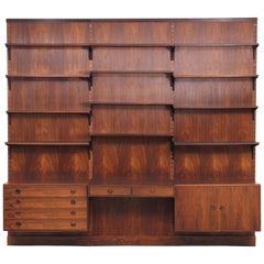 Mid-Century Modern Danish Wall System in Rosewood