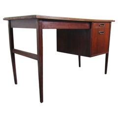 Mid-Century Modern Danish Walnut Writing Desk with Slate Top