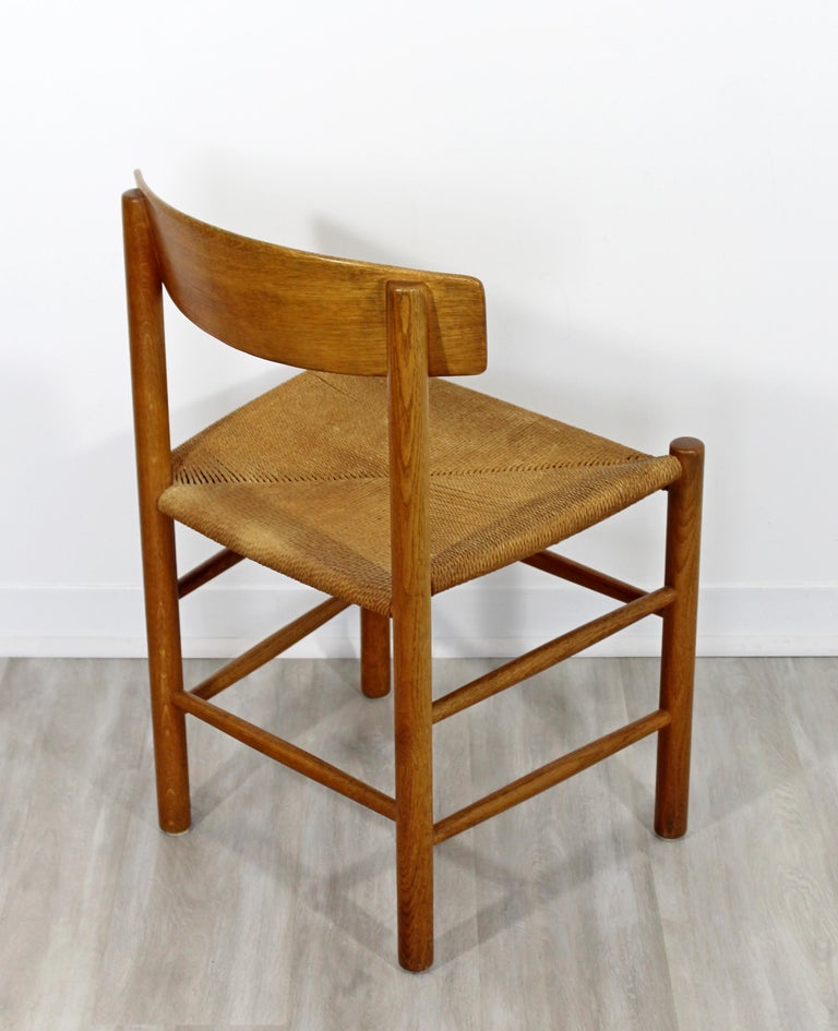 Astonishing Mid Century Modern Danish Wood And Cord Side Accent Chair 1950S Pabps2019 Chair Design Images Pabps2019Com