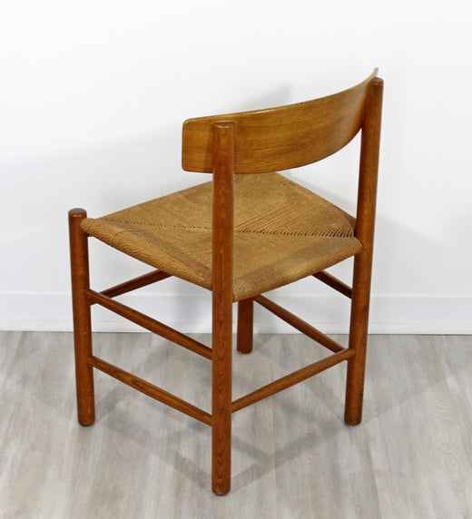 Fine Mid Century Modern Danish Wood And Cord Side Accent Chair 1950S Pabps2019 Chair Design Images Pabps2019Com