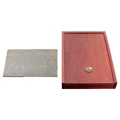 Mid-Century Modern David Barr Table Sculpture Metal Fibonacci Sequence Wood Box