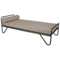 Mid-Century Modern Daybed in Tubular Steel Attr. to Jacques Hitier, France 1950s