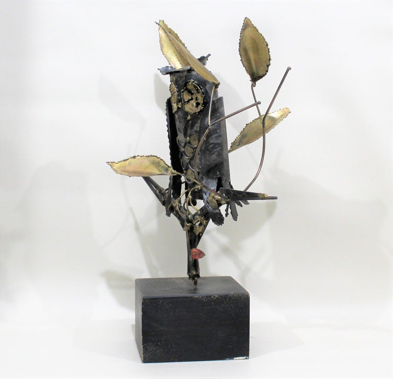Mid-Century Modern Degroot Owl Sculpture In Good Condition For Sale In Hamilton, Ontario