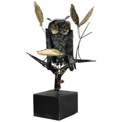 Mid-Century Modern Degroot Owl Sculpture