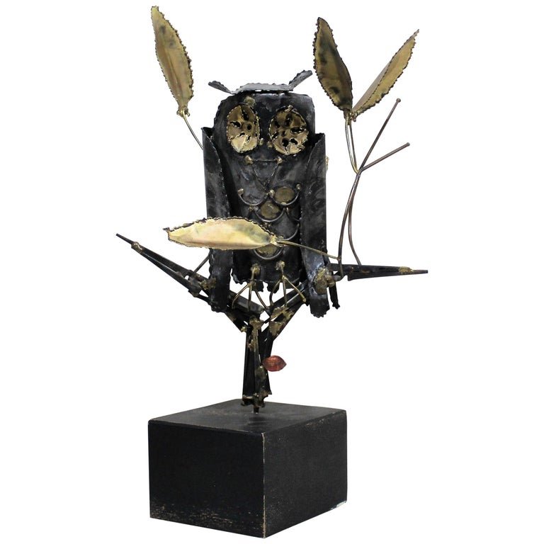 Mid-Century Modern Degroot Owl Sculpture For Sale