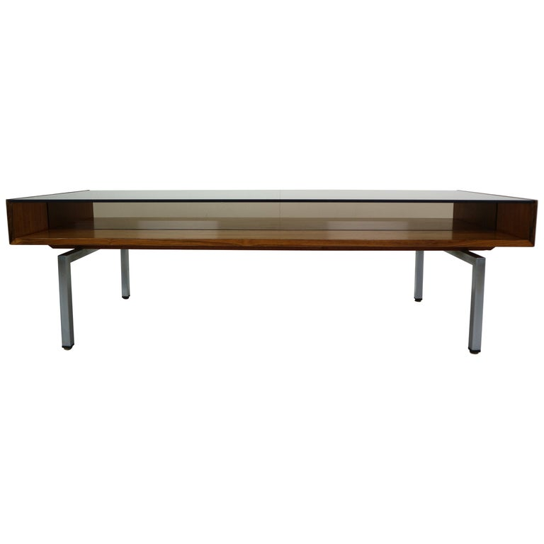 Mid-Century Modern Design Coffee Table Smoked Glass