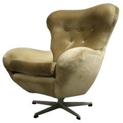 Mid-Century Modern Design Egg Swivel Chair, 1960s