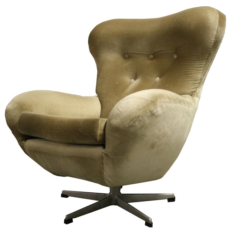 Miraculous Mid Century Modern Design Egg Swivel Chair 1960S Creativecarmelina Interior Chair Design Creativecarmelinacom