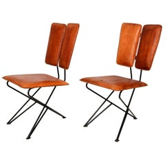 Mid-Century Modern Design Pablex Tripod Chair in Leather by Ambianic