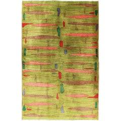 Mid-Century Modern Design Turkish Carpet