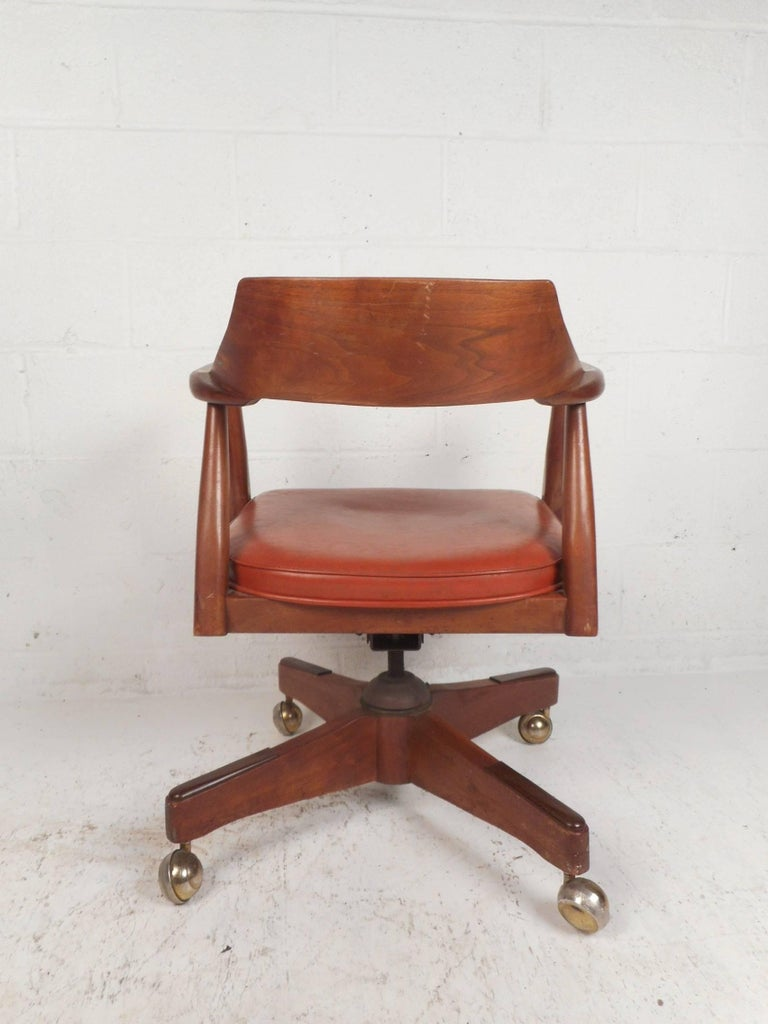 Late 20th century mid century modern desk chair for sale