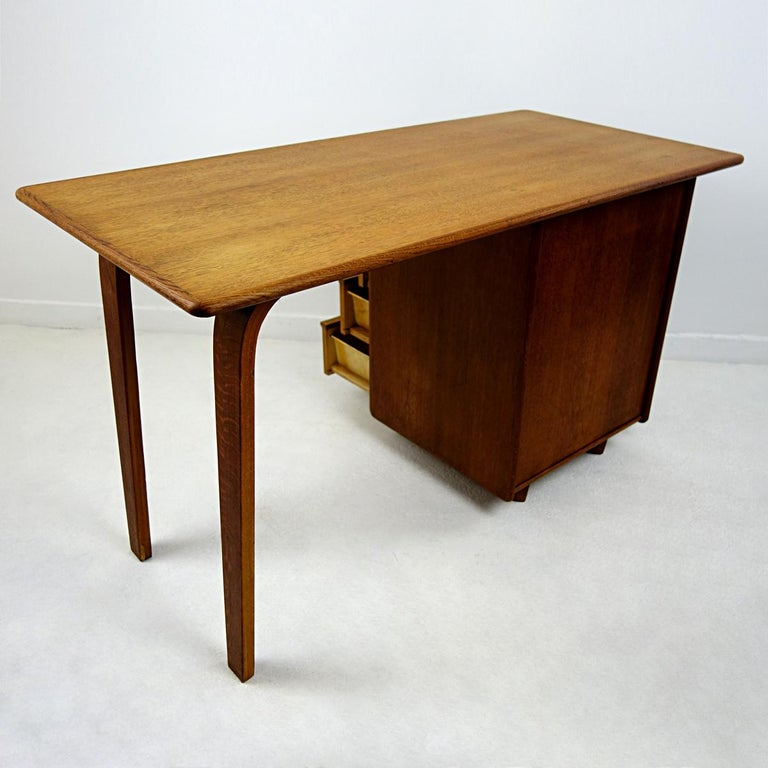 Oak Mid-Century Modern Desk Designed by Cees Braakman for USM Pastoe For Sale