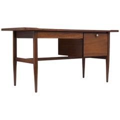 1960's Mid-Century Modern Walnut Desk