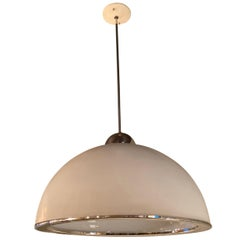 Mid-Century Modern Diffused Dome Pendant Light