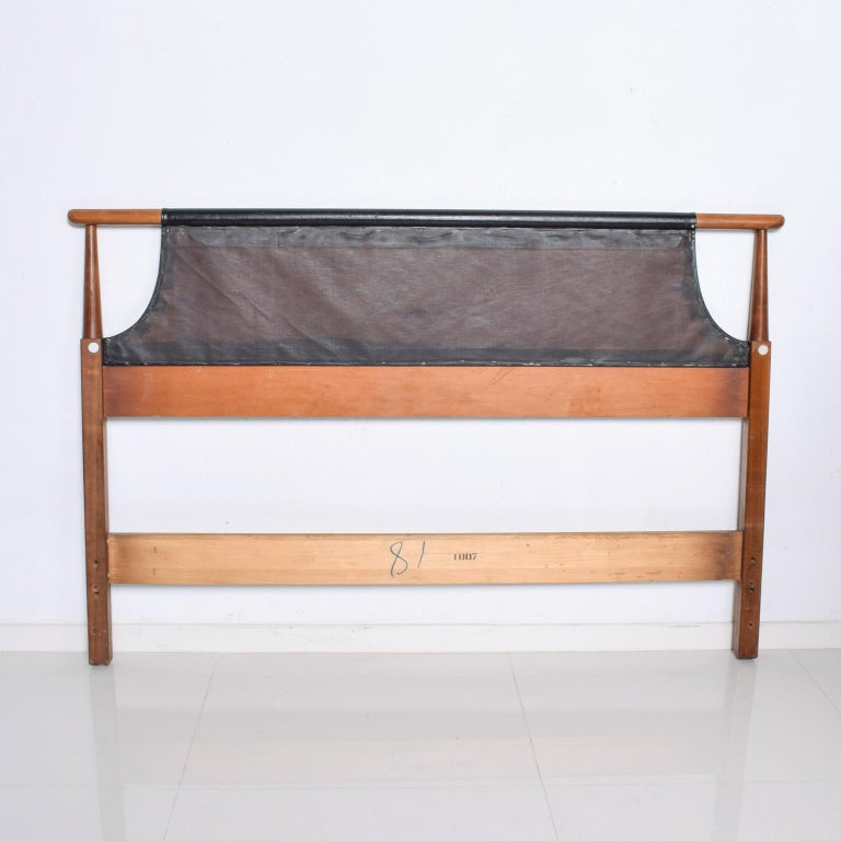 Mid-20th Century Mid-Century Modern Dillingham Tufted Walnut Headboard Full Size For Sale
