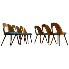 Mid-Century Modern Dining Chair Bent Plywood Back in by Antonin Šuman