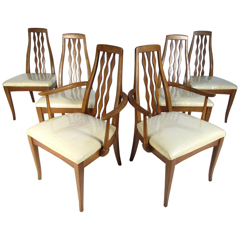 Mid Century Modern Dining Chairs By American Of Martinsville Set Of 6 For Sale At 1stdibs