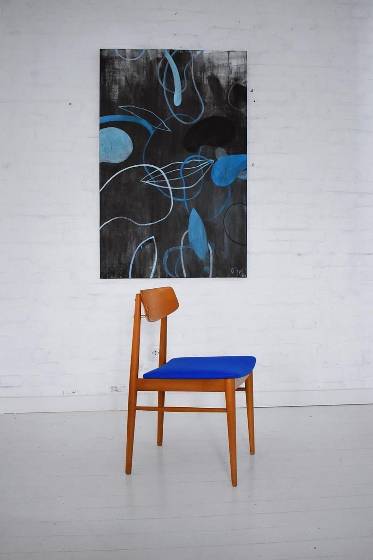 Stained Mid-Century Modern Dining Chairs by Wiesner, Hager, Austria, 1960s For Sale