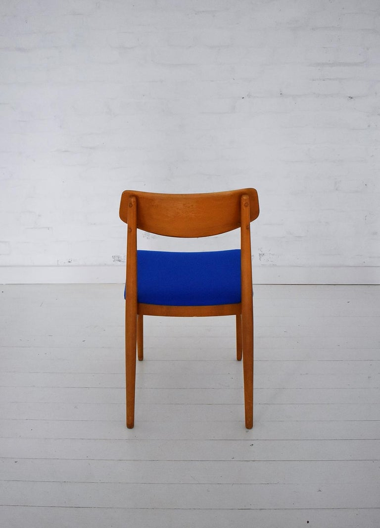 Fabric Mid-Century Modern Dining Chairs by Wiesner, Hager, Austria, 1960s For Sale