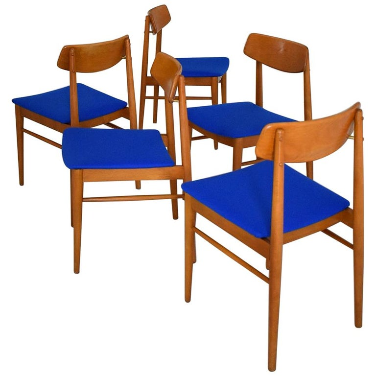 Mid-Century Modern Dining Chairs by Wiesner, Hager, Austria, 1960s For Sale