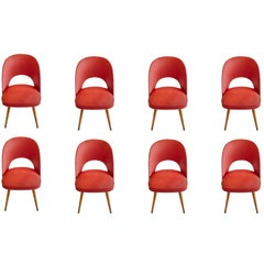 Mid-Century Modern Dining Chairs in Beech by Oswald Haerdtl for Thonet