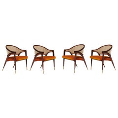 Mid-Century Modern Dining Chairs in COM, Set of 4