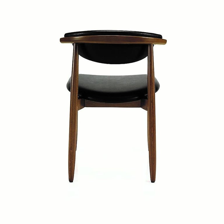 Contemporary Mid-Century Modern Dining Chairs, Set of 8 For Sale