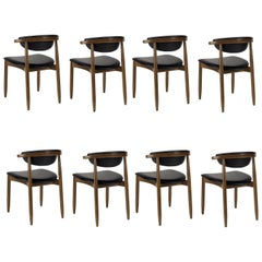 Mid-Century Modern Dining Chairs Set of 8