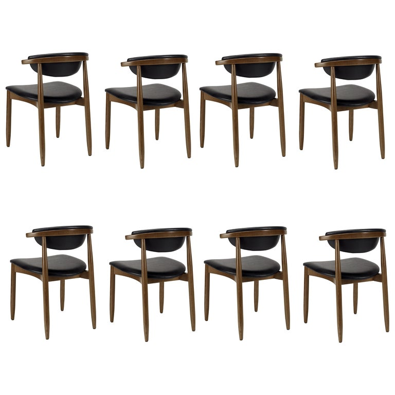Mid-Century Modern Dining Chairs Set of 8 For Sale