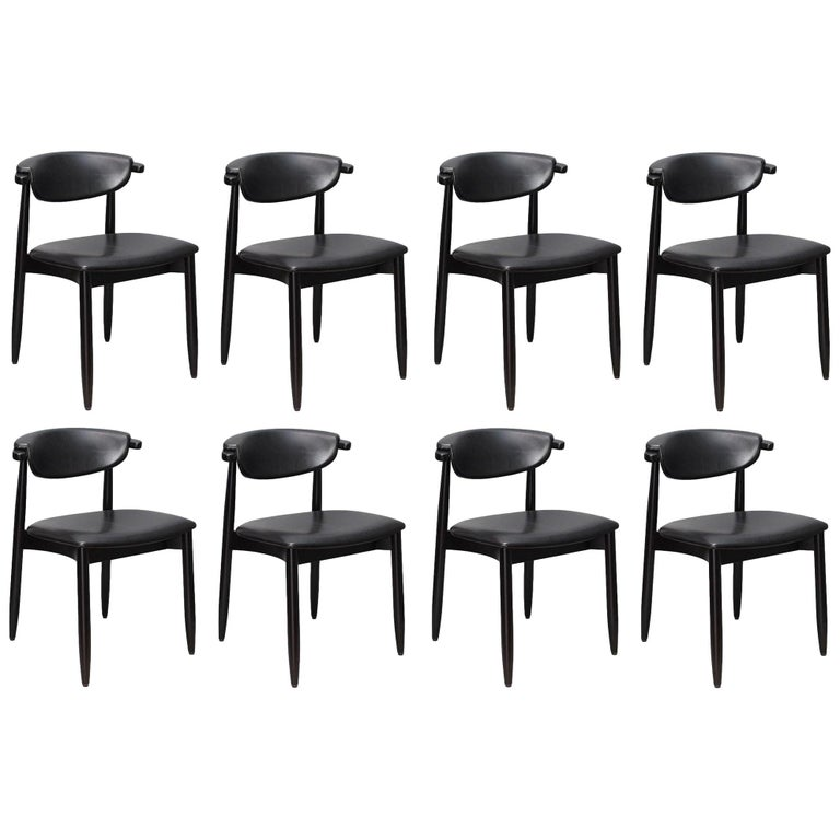 Mid-Century Modern Dining Chairs, Set of 8 For Sale