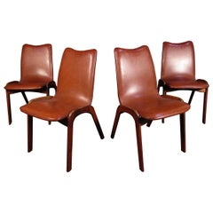 Mid-Century Modern Dining Chairs, Set of Four