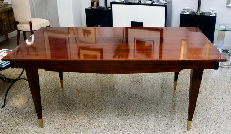 Art Deco Mid-Century Modern Dining Room Table For Sale