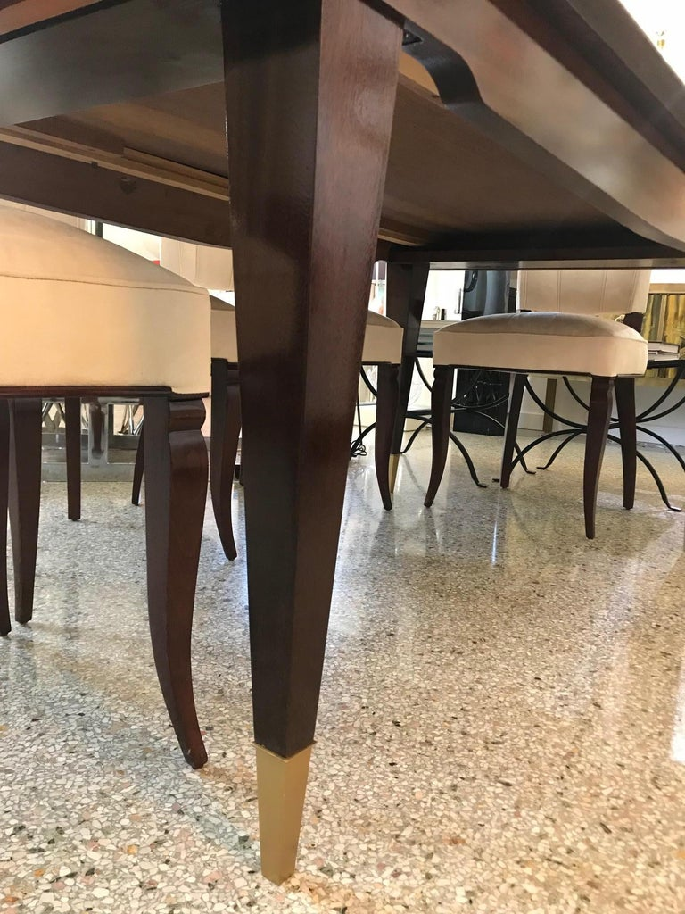 Lacquered Mid-Century Modern Dining Room Table For Sale