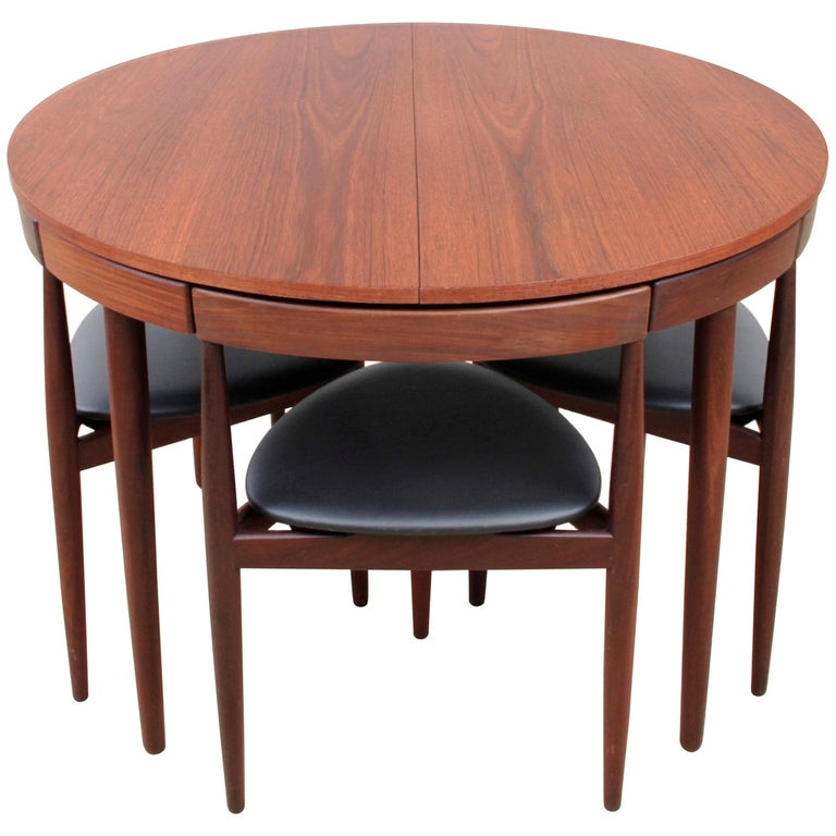 Mid-Century Modern Dining Set by Hans Olsen for Frem Rojle For Sale