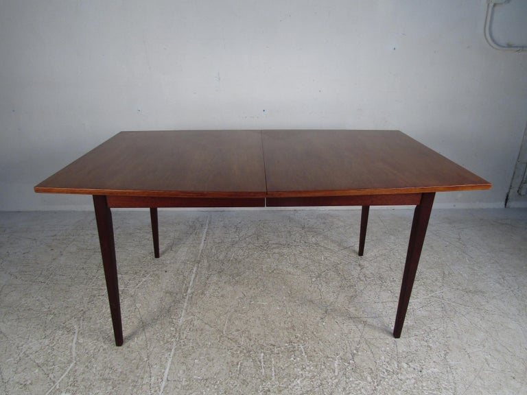 Faux Leather Mid-Century Modern Dining Set For Sale