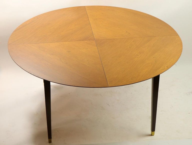 Brass Mid-Century Modern Dining Table For Sale
