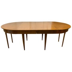 Mid-Century Modern Dining Table with Three Extension Leaves