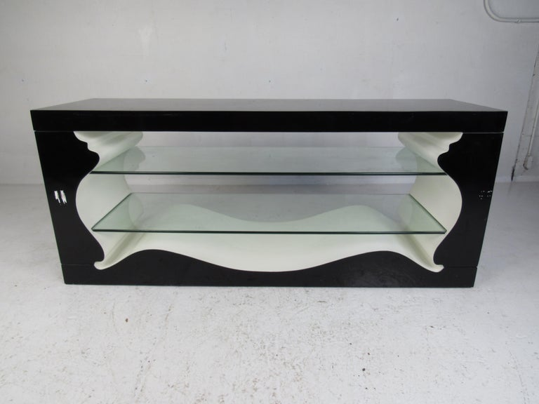 Peachy Mid Century Modern Display Shelf Or Console Table Ncnpc Chair Design For Home Ncnpcorg